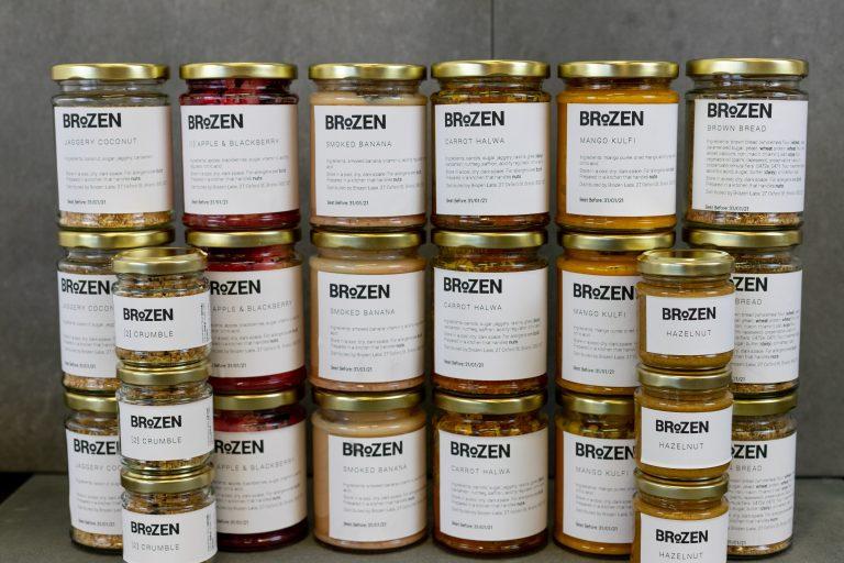 group shot labelled jars